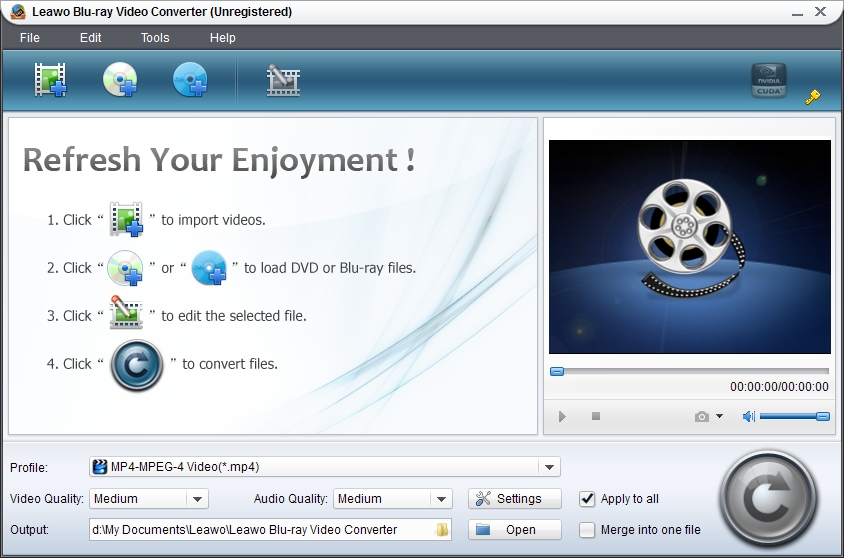 Leawo Blu-ray Video Converter Screenshot